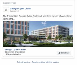 Georgia Cyber Center Facebook Ads