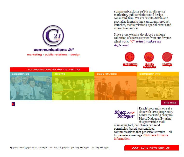 c21 website circa 2003 - 2007