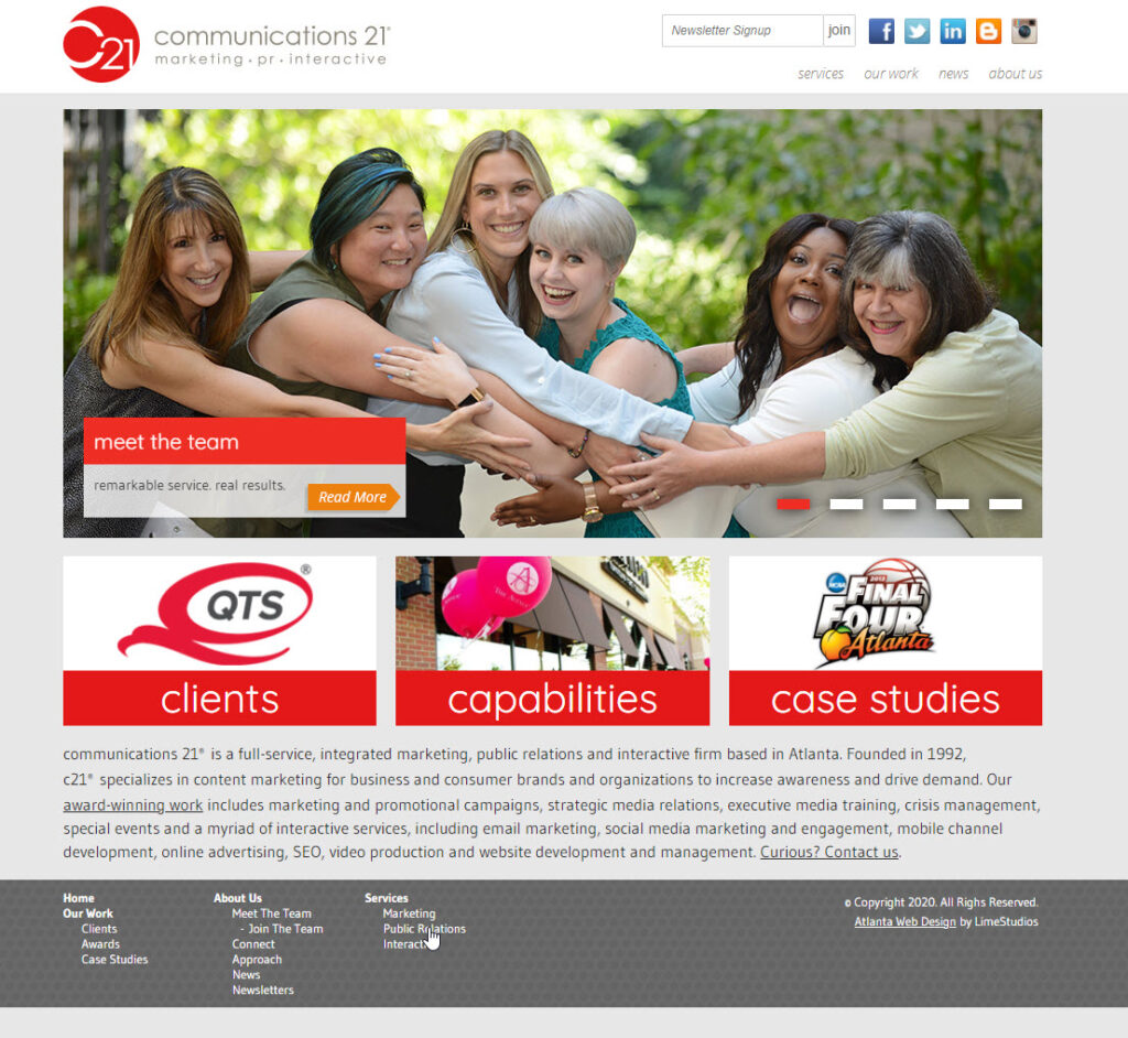 c21 website from 2013 - 2020